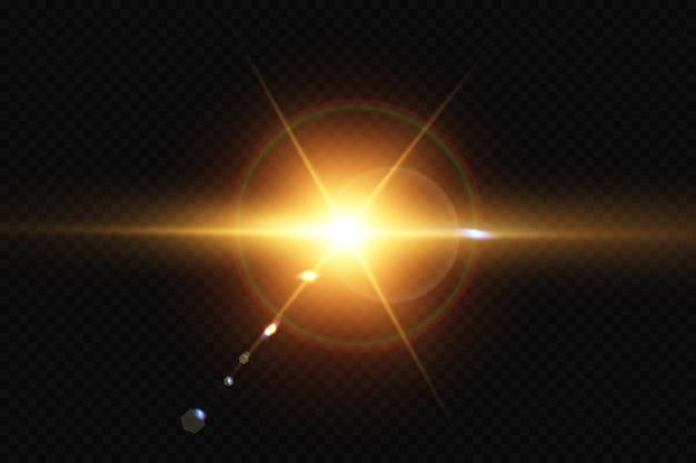 Effet de lumière de lumière parasite spéciale lumière du soleil transparent