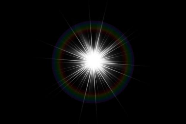 Effet de lumière de lumière parasite spéciale vecteur lumière du soleil transparent