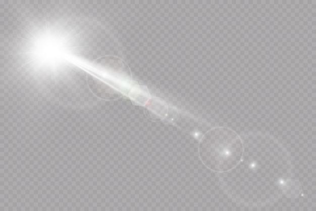 Effet de lumière de lumière parasite spéciale vecteur lumière du soleil