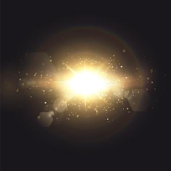 Effet de lumière de lumière parasite spéciale.