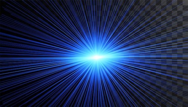 Effet de lumière luminescent transparent