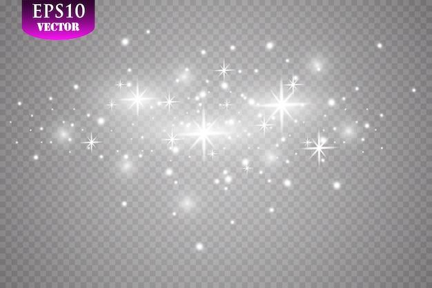 Effet de lumière luminescente. illustration. concept de flash de noël.