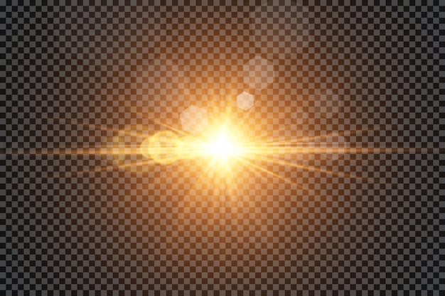 Effet de lumière luminescente. soleil.
