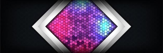 Effet de lumière moderne texture abstraite matériau sombre