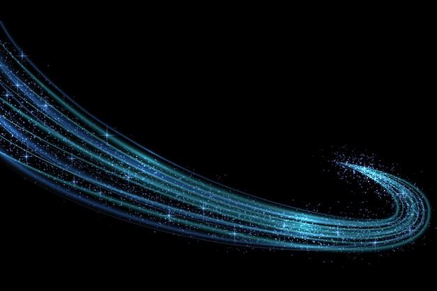 Effet de lumière néon lueur étoiles éclate avec des étincelles isolées