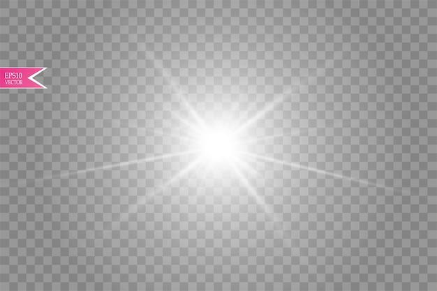 Effet de lumière parasite isolé sur fond transparent