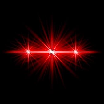 Effet de lumière rouge flare objectif illuminé illustration vectorielle