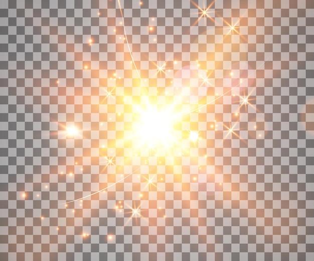 Effet de lumière rougeoyante avec