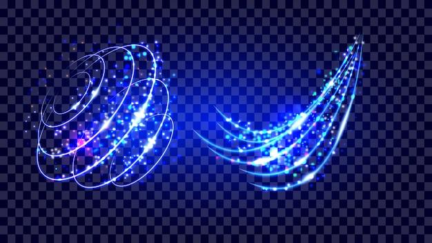 Effet de lumière scintillant avec particule rougeoyante