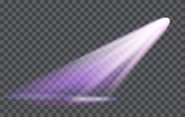 Effet de lumière spotlight avec fond transparent