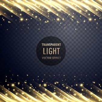 Effet de lumière transparent avec effet étincelant