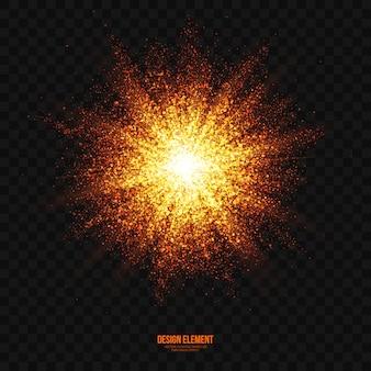 Effet de lumière vecteur explosion fond transparent