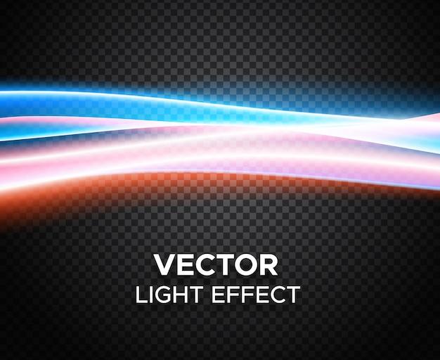 Effet de lumière de vecteur sur fond quadrillé