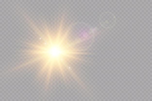 Effet de lumière vecteur lumière du soleil transparent spécial lens flare