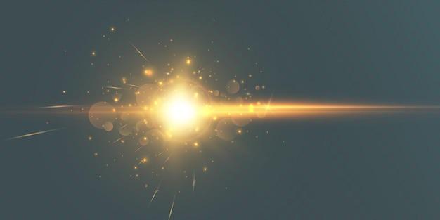 Effet de lumière vive avec des rayons