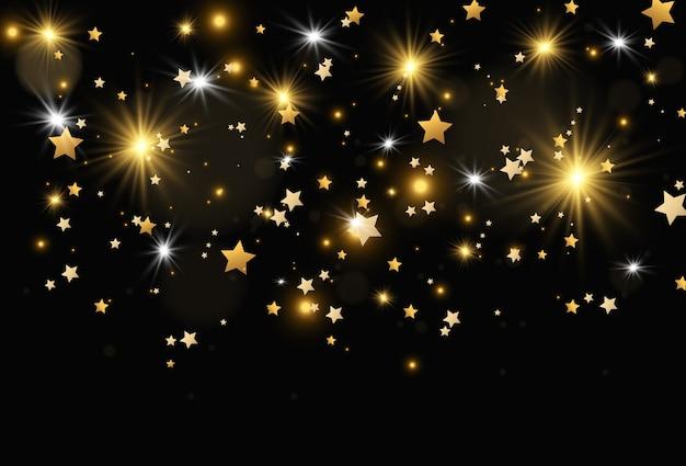 Effet de lumières bokeh et étoiles