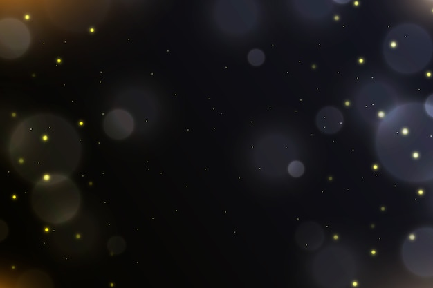 Effet de lumières bokeh sur le thème du fond sombre