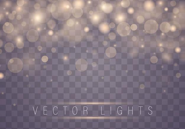 Effet de lumières brillantes brouillées