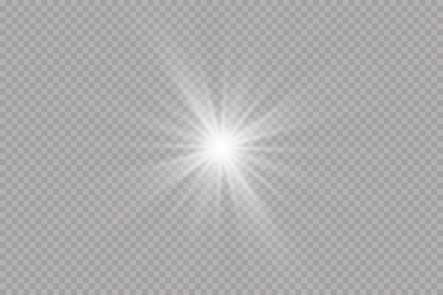 Effet lumineux étoile brillante