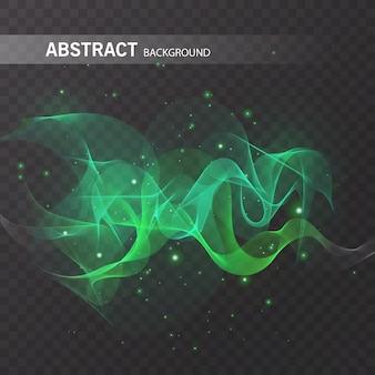 Effet lumineux magique sur fond transparent pour votre conception, effet abstrait coloré.