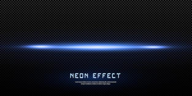 Effet lumineux, néon bleu