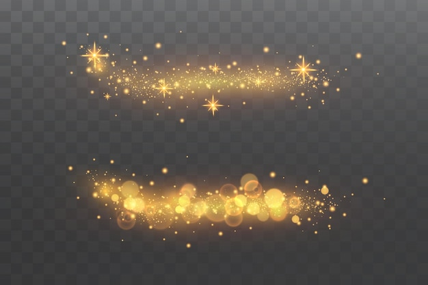 Effet lumineux. particules scintillantes. éléments scintillants.