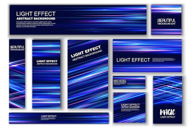 Effet lumineux pour le design. effet de vitesse.