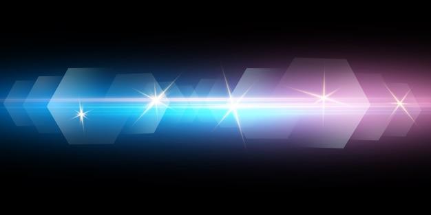 Effet lumineux, la sirène de police clignote sur un fond transparent.