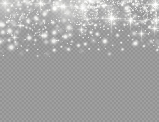 Effet lumineux spécial étincelles blanches