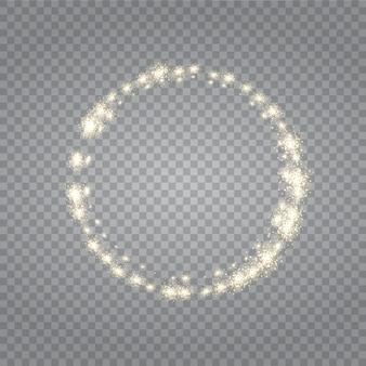 Effet lumineux transparent. star a éclaté d'étincelles.