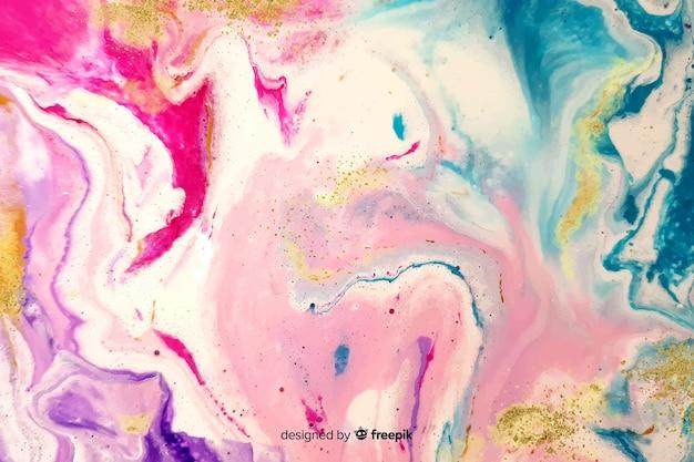 Effet marbre coloré