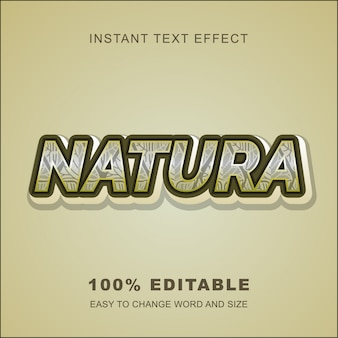 Effet natura text