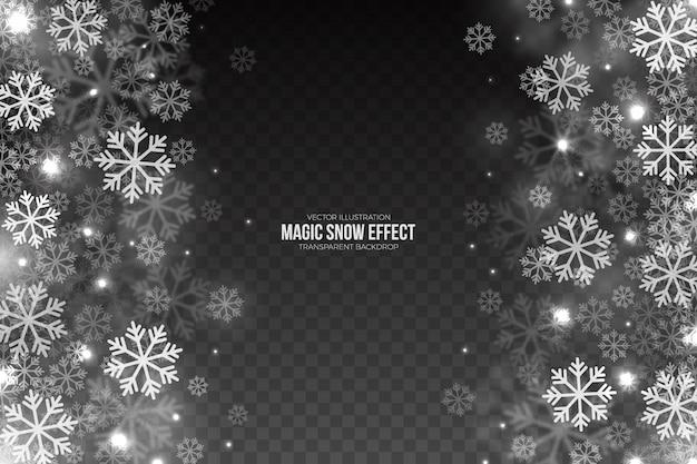 Effet de neige tombant magique
