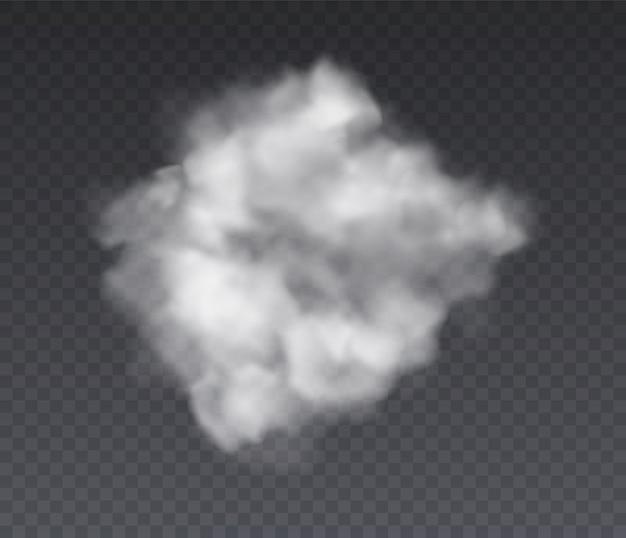 Effet nuageux. chimie debout brouillard et fumée blanche