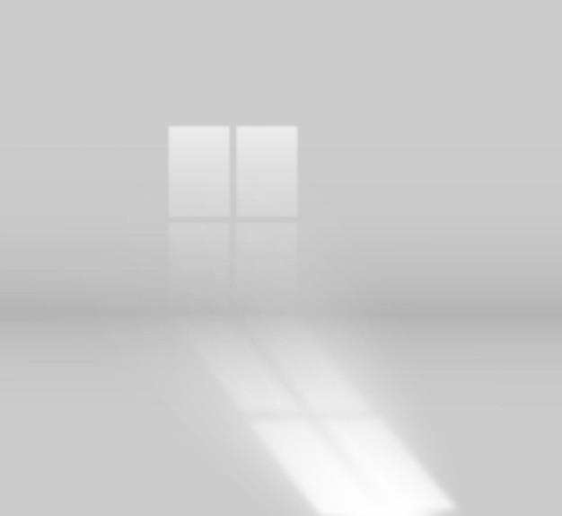 Effet d'ombre de fenêtre dans une pièce lumineuse