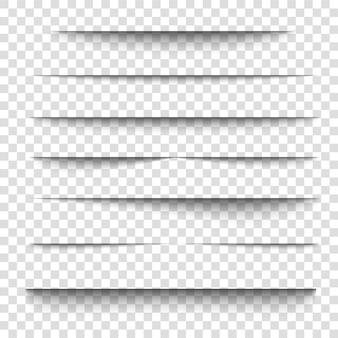Effet d'ombre de feuille de papier d forme de bord de ligne