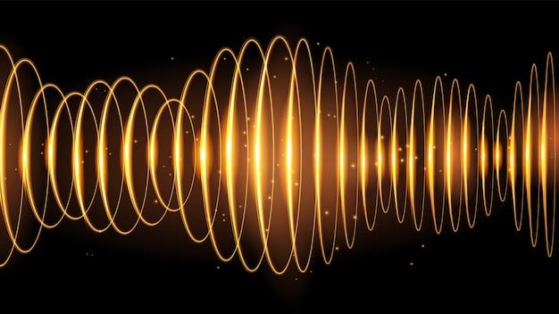 Effet d'onde sonore doré