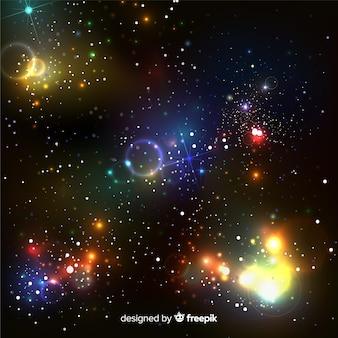 Effet de particules flottant coloré