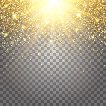 Effet des pièces volantes de luxe paillettes d'or