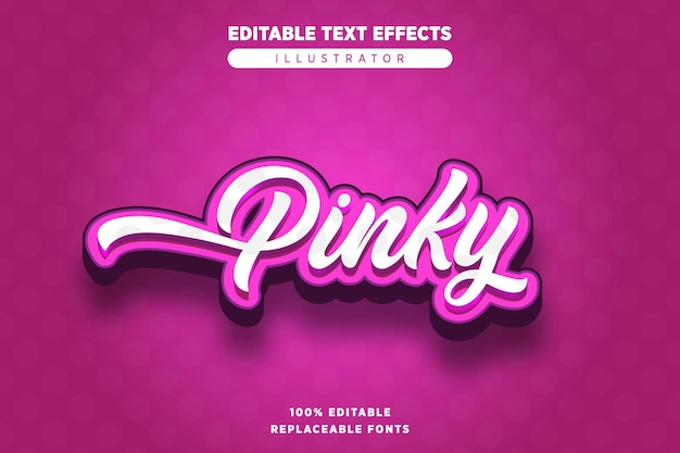 Effet pinky text modifiable