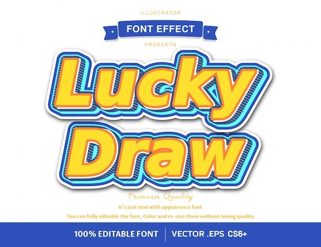 Effet de police 3d lucky draw