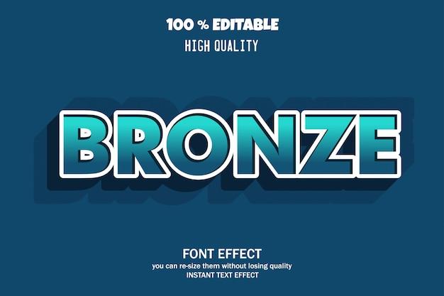 Effet de police bronze