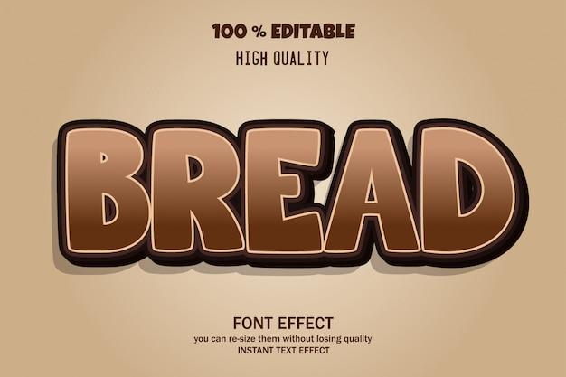 Effet de police du texte du pain