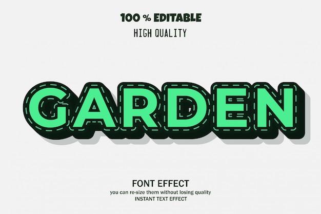 Effet de police de jardin