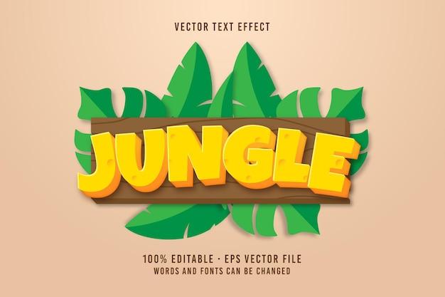 Effet de police modifiable du texte de la jungle