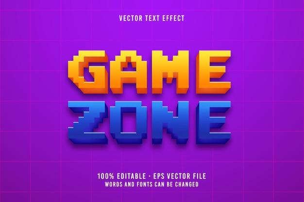 Effet de police modifiable de style rétro de texte de zone de jeu