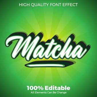 Effet de police modifiable style script vert matcha