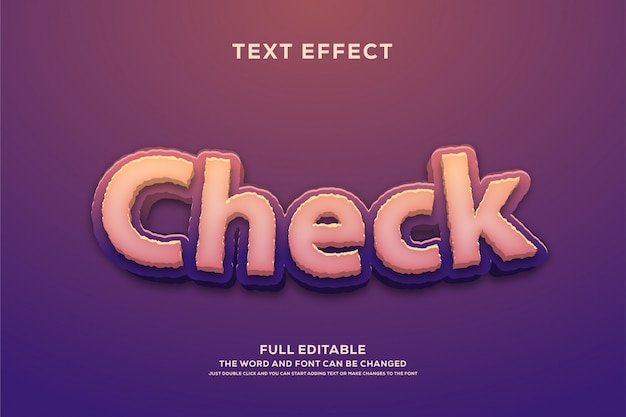 Effet de police modifiable de style texte