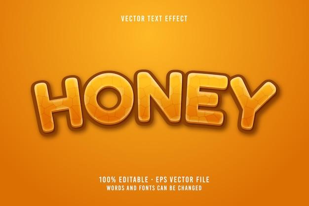 Effet de police modifiable de texte de miel
