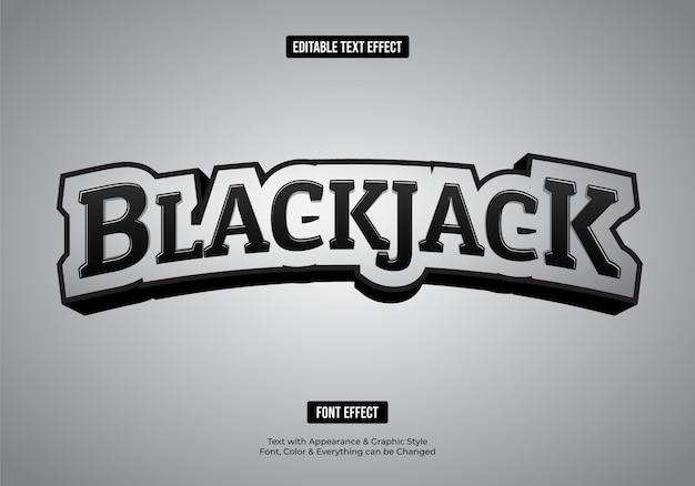 Effet de police de style de texte 3d noir et blanc